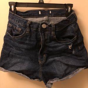 Refuge jean high-waisted shorts